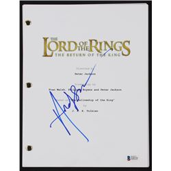 """Andy Serkis Signed """" The Lord of the Rings: The Return of the King"""" Full Movie Script (Beckett COA)"""