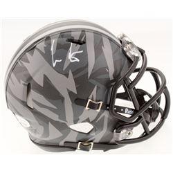 Cris Carter Signed Ohio State Buckeyes Camo Speed Mini Helmet (JSA COA)