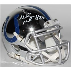 Marlon Mack Signed Indianapolis Colts Chrome Speed Mini Helmet (Schwartz Sports COA)