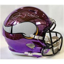 Adam Thielen Signed Minnesota Vikings Full-Size Chrome Speed Helmet (Beckett COA)