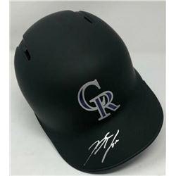 Nolan Arenado Signed Colorado Rockies Matte Black Full-Size Batting Helmet (Fanatics Hologram  MLB H