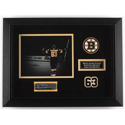 Brad Marchand Signed Boston Bruins 16x22x1 Custom Framed Game Used Stick Piece Shadowbox Display Ins