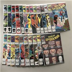 """Lot of (23) 1987-1989 """"Web of Spider-Man"""" 1st Series Marvel Comic Books from #27-52"""