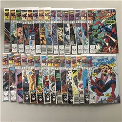 """Lot of (30) 1989-1991 """"Web of Spider-Man"""" 1st Series Marvel Comic Books with #53-83"""