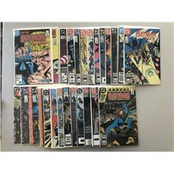 """Lot of (26) 1987-1991 """"Batman"""" DC Comic Books from #403-467 with Annual #12"""