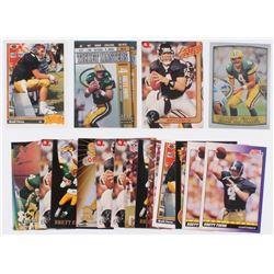 Lot of (20) Brett Favre Football Cards with 1998 Leaf Rookies and Stars Ticket Masters #1, 1991 Acti