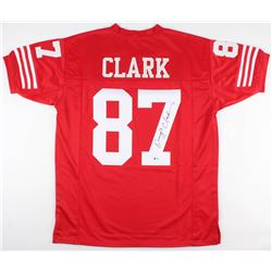 Dwight Clark Signed San Francisco 49ers Jersey (Beckett COA)