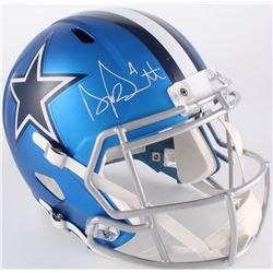 Dak Prescott Signed Dallas Cowboys Blaze Full-Size Speed Helmet (JSA COA  Dak Prescott Hologram)
