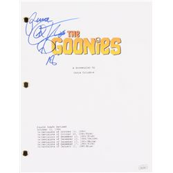 "Corey Feldman Signed ""The Goonies"" Full Movie Script Inscribed ""Peace"" (PSA COA)"