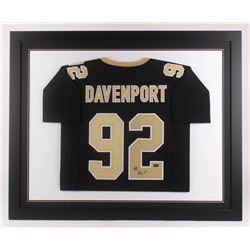 Marcus Davenport Signed New Orleans Saints 35.5x43.5 Custom Framed Jersey (Radtke COA)
