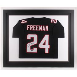 Devonta Freeman Signed Atlanta Falcons 35.5x43.5 Custom Framed Jersey (Radtke COA)