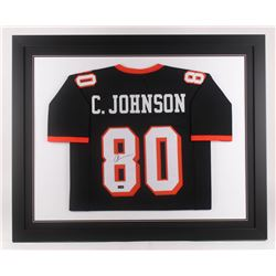 Chad Johnson Signed Oregon State Beavers 35.5x43.5 Custom Framed Jersey (Radtke COA)