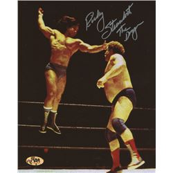 "Ricky Steamboat Signed 8x10 Photo Inscribed ""The Dragon"" (MAB Hologram)"