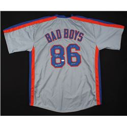 "Doc Gooden,  Lenny Dykstra,  Darryl Strawberry Signed New York Mets ""Bad Boys"" Jersey Inscribed ""Dr."