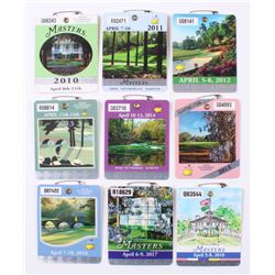 Lot of (10) 2010-2018 Masters Tournament Badges