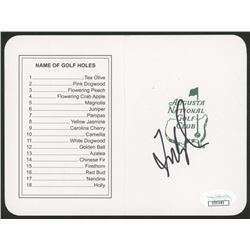 "Fred Couples Signed ""Masters"" Augusta National Golf Club Score Card (JSA COA)"