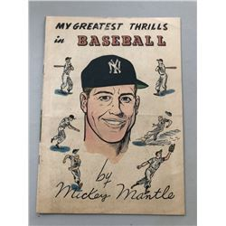 "1950 ""My Greatest Thrills in Baseball"" Issue #0 Mission Of California Comic Book"
