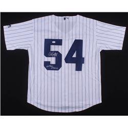 "Aroldis Chapman Signed New York Yankees ""Cuban Missile"" Jersey (JSA COA)"