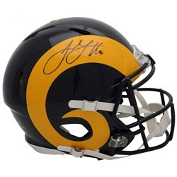 Jared Goff Signed Los Angeles Rams Throwback Full-Size Authentic On-Field Speed Helmet (Fanatics Hol