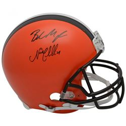 Nick Chubb  Baker Mayfield Signed Cleveland Browns Full-Size Authentic On-Field Helmet (Fanatics Hol