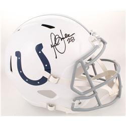Marshall Faulk Signed Indianapolis Colts Full-Size Speed Helmet (Radtke COA)