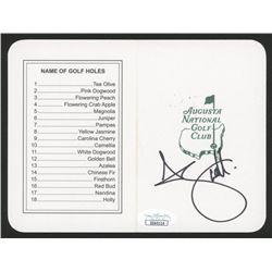 "Adam Scott Signed ""Masters"" Augusta National Golf Club Scorecard (JSA COA)"