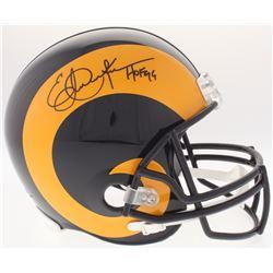 "Eric Dickerson Signed Los Angeles Rams Full-Size Helmet Inscribed ""HOF 99"" (JSA COA)"