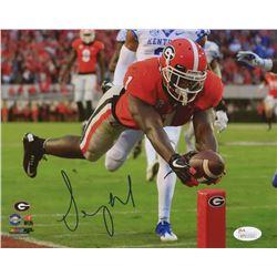 Sony Michel Signed Georgia Bulldogs 8x10 Photo (JSA COA)