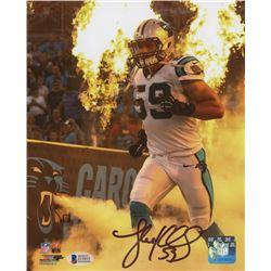 Luke Kuechly Signed Carolina Panthers 8x10 Photo (Beckett COA)