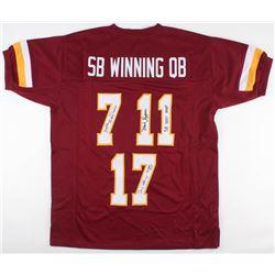 "Joe Theismann, Doug Williams  Mark Rypien Signed ""SB Winning QB"" Redskins Jersey with Incriptions (J"