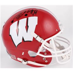 J.J. Watt Signed Wisconsin Badgers Full-Size Helmet (JSA COA  Watt Hologram)