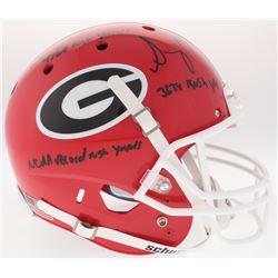 "Nick Chubb  Sony Michel Signed Georgia Bulldogs Full-Size Helmet Inscribed ""3638 Rush Yds"", ""4769 Ru"
