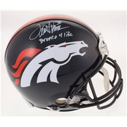 "Terrell Davis Signed Denver Broncos Full-Size Authentic On-Field Helmet Inscribed ""Bronco 4 Life"" (R"