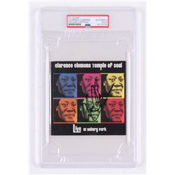 """Clarence Clemons Signed """"Live in Asbury Park"""" CD Cover (PSA Encapsulated)"""