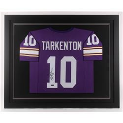 "Fran Tarkenton Signed Minnesota Vikings 35.5x43.5 Custom Framed Jersey Inscribed ""HOF 86"" (Radtke CO"