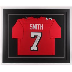Steve Smith Sr. Signed Utah Utes 35.5x43.5 Custom Framed Jersey (Radtke COA)