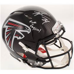 "Devonta Freeman Signed Atlanta Falcons Full-Size Authentic On-Field Speed Helmet Inscribed ""Fast  Ph"