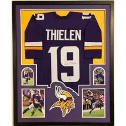 Adam Thielen Signed Minnesota Vikings 35x43 Custom Framed Jersey (Beckett COA)