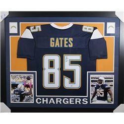 Antonio Gates Signed Los Angeles Chargers 35x43 Custom Framed Jersey (Beckett COA)