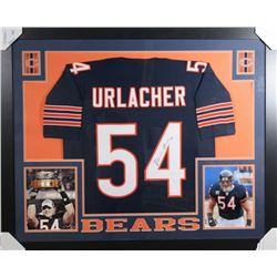 Brian Urlacher Signed Chicago Bears 35x43 Custom Framed Jersey (JSA COA)