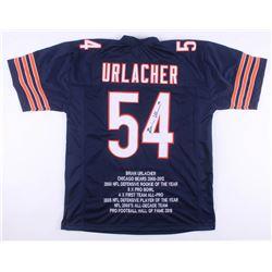 Brian Urlacher Signed Chicago Bears Career Highlight Stat Jersey (JSA COA)