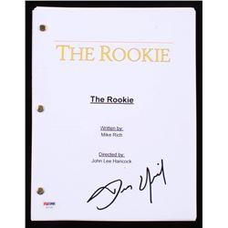 """Dennis Quaid Signed """"The Rookie"""" Full Script (PSA COA)"""