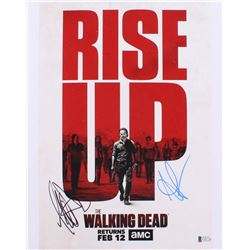 "Andrew Lincoln  Jeffrey Dean Morgan Signed ""The Walking Dead"" 11x14 Photo (Beckett COA)"