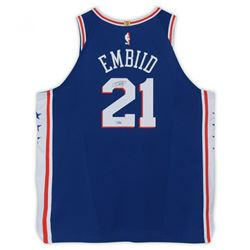 Joel Embiid Signed Philadelphia 76ers Jersey (Fanatics Hologram)