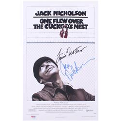 """Jack Nicholson  Louise Fletcher Signed """"One Flew Over The Cuckoo's Nest"""" 11x17 Movie Poster (PSA LOA"""