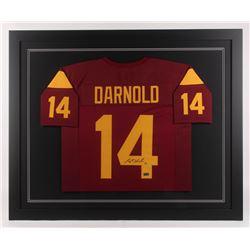 Sam Darnold Signed USC Trojans 35.5x43.5 Custom Framed Jersey (Radtke COA)