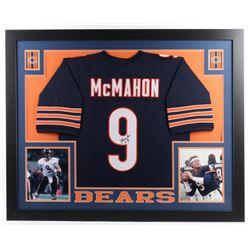 Jim McMahon Signed Bears 35x43 Custom Framed Jersey (JSA COA)