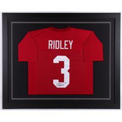 Calvin Ridley Signed Alabama Crimson Tide 35.5x43.5 Custom Framed Jersey (JSA COA)