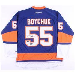 """Johnny Boychuk Signed New York Islanders Jersey Inscribed """"Johnny Rocket!"""" (Boychuk COA)"""