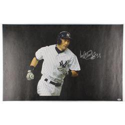 Ichiro Suzuki Signed New York Yankees 24x37.5 Photo on Canvas (PSA COA)
